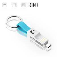 powerbank box großhandel-Keychain Magnetic Phone Ladekabel mit Geschenkbox für PowerBank iPhone Android Typ-C Handy-Ladegerät 060