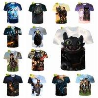 3d hiphop t рубашки оптовых-3D Как Your Dragon футболки Мужчины Tracksuit Фитнес Hiphop Смешные Mens T-Shirt Горячая одежда MMA1542-1