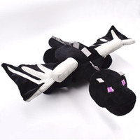 Wholesale huge toys resale online - 60cm Huge Big Ender Dragon Plush Toy Soft Black Enderdragon PP Cotton Dragon Toys MX190925