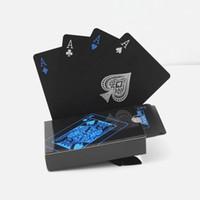 игральные карты texas оптовых-Черный Texas Holdem Классический Реклама Покер Водонепроницаемая ПВХ Grind Прочный Совет Ролевые игры Magic Card 4 2hy