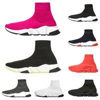 синие зеленые носки оптовых-Роскошные кроссовки скорость тренера дизайнер мужчины женщины повседневная обувь черный белый зеленый блеск красный синий мода мужские носки обувь бегун размер 36-45