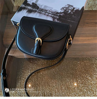 Wholesale high quality leather crossbody bags resale online - 2020 high quality genuine black embossed leather women s handbag shoulder bags crossbody bags messenger bag