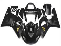 1999 r1 için fairings toptan satış-Yeni ABS motosiklet bisiklet Fairing Kitleri YAMAHA YZF-R1 98 99 YZF1000 1998 1999 R1 marangozluk kaporta set özel siyah mat