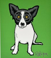Wholesale dog oil paintings canvas resale online - George Rodrigue Blue Dog Little Bitty Home Decor Handcrafts HD Print Oil Painting On Canvas Wall Art Canvas Pictures