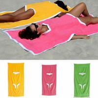 одеяло халат оптовых-175 * 75 см Towelkini пляж изменение банный халат одеяло пончо бикини открытый спорт взрослый купальник плавание полотенце Мыс 10 шт. LJJA2430