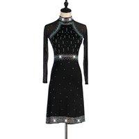 saias pretas para dançar venda por atacado-Competição de Dança Latina Skirt Women 2019 preto novo elegante Samba Latina Saia Dança Adulto de alta qualidade vestido de Dança