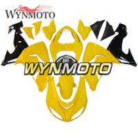 siyah sarı motosiklet fuar toptan satış-Yıl İçin Sarı Siyah düşürür Komple Kaporta, 2006 2007 Kawasaki ZX10R Kaporta ABS Enjeksiyon Paneli Yüksek Kalite Kaporta Motosiklet Fairing