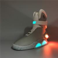 führte basketball-turnschuhe großhandel-Luftmagazine Zurück in die Zukunft Fashion Sneakers Herren Damen Laufschuhe LED-Beleuchtung Marty McFly's New Arrival Basketball-Schuhe