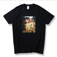 camiseta borboleta venda por atacado-TRAVIS SCOTT ASTROWORLDT Homens Tshirt Impressão Borboleta Homens e Mulheres de Manga Curta Em Torno Do Pescoço Tee Tamanho Asiático S-2XL