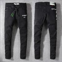 calça jeans masculina jeans venda por atacado-Desgastado dos homens Skinny Jeans Calças De Brim Designer de Moda Jeans Slim Motocicleta Moto Motociclista Causal Mens Denim Calças Jeans Hip Hop Dos Homens # 658