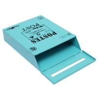 eisen mail großhandel-Antiqued Vintage-Eisen-Blatt-Briefkasten Garten Wand Tin Box Brief Zeitung Post Box