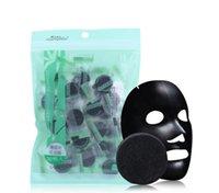 akne temizleme kremi toptan satış-Bambu Kömür Sıkıştırılmış Yüz Maskesi DIY Siyah Yüz Maskesi dokunmamış Kumaşlar Güçlü Adsorpsiyon Yağı Kontrol 40 adet