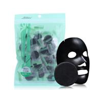 ingrosso tessuto ad olio-Maschera per il viso compressa carbone carbone di bambù Maschera per il viso nera fai-da-te Tessuti non tessuti Controllo forte dell'olio ad adsorbimento 40 pezzi