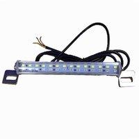 luz de marcha atrás led 24v al por mayor-Luces de la placa de matrícula del coche del LED 24V cola de freno lámparas de marcha atrás largas 28PCS