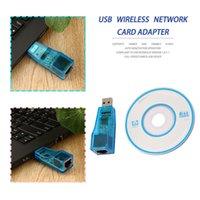 ingrosso sata ethernet card-Adattatore cavo sata a gadget usb cavo sata Adattatore di rete USB Lan RJ45 Card 10/100 Mbps Ethernet per PC laptop dropshipping