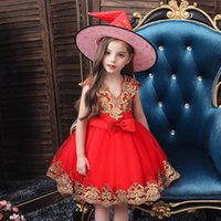 festa de big hat venda por atacado-Halloween Party Selling Hot Girl Dresses All Hallows Day Little Girls Vestido com Big Witch Hat