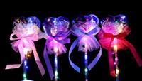 Party Led Light Stick Glow Magic Wand Witch Wizard Clear Heart Shape Led Wands Rave Toy Great For Birthday Wedding Christmas Carnival Decor