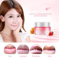Wholesale lip plumping enhancer for sale - BIOAQUA Strawberry Lip Sleeping Mask Exfoliator Lips Balm Moisturizer Nourish Lip Plumper Enhancer Vitamin Skin Care Night Cream