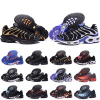 Wholesale new styles shoes for men resale online - New Style Chaussure TN Plus Running Shoes For Men Outdoor Triple Black White Hot Mens Trainers Hiking Sports Athletic Sneakers Size