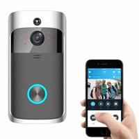 çan cep telefonları toptan satış-Akıllı Kablosuz Güvenlik wifi kapı zili HD 720 P video interkom Kayıt Görüntülü Kapı Telefonu Uzaktan Ev Izleme video kapı zili