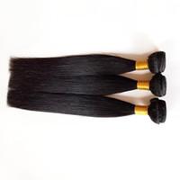 preços chinese hair extensions venda por atacado-Venda direta da fábrica brasileira virgem cabelo humano cor Natural Preço de atacado Venda quente 7A grau não transformada cabelo chinês extensões de trama