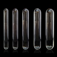 Wholesale huge glass penis for sale - Group buy Cylinder Glass Dildo Big Huge Large Glassware Penis Crystal Anal Plug Women Sex Toys for Women G spot Stimulator Pleasure Wand Y191028