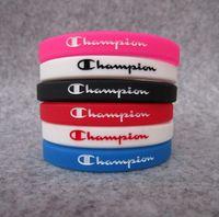 Wholesale bracelet silicone wristband sports for sale - Group buy 50PCS Silicone Champion Bracelet Colorful Unisex Wristband Rubber Silicone Bracelet Sport Activity Wrist Band Fashion Jewelry Promotion Gift