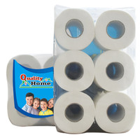 Wholesale Household Roll Paper Rolls Lift Layers Of Soft Wood Pulp Toilet Paper English Packaging Essential Supplies HL0901