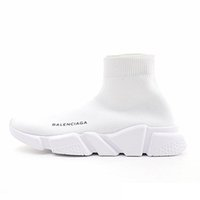 zapatos purpurina rosa plana al por mayor-Balenciaga 2019 calcetines de diseñador hombre mujer zapatillas de deporte zapatos de moda negro blanco rojo brillo verde rosa plana para hombre Entrenadores Runner zapato casual