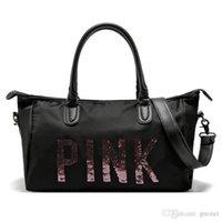 bolsas pretas agradáveis venda por atacado-Nice Pop Chegada Das Mulheres Preto Rosa Duffel Sacos de Viagem À Prova D 'Água Bolsas de Bagagem Saco de Viagem Yoga Bag Folding Bags Vogue