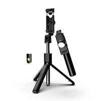 selfie stick для заметки оптовых-Новый Selfie Stick Bluetooth, расширяемый с беспроводным пультом дистанционного управления и штативом для iPhone X / iPhone 8/8 Plus / iPhone 7 / iPhone 7 Plus / Galaxy Note