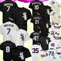 35 camisolas venda por atacado-Camisola de Chicago 7 Tim Anderson White Sox 10 Yoan Moncada 8 Camisa de Bo Jackson 45 Michael 79 Jose Abreu 35 Camisa de Frank