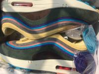 kaliteli erkek ayakkabı markaları toptan satış-2019 en kaliteli Yeni 97 s Gökkuşağı ayakkabı 4219-400 Marka 97 Sean Wotherspoon Erkekler Koşu Ayakkabı İyi Kadın Canlı Kükürt Çok Spor Sneakers
