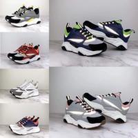europa zapatos deportivos al por mayor-2019 nuevos zapatos deportivos de lona reflectante y piel de becerro 3D de Europa. Moda deportiva B22.