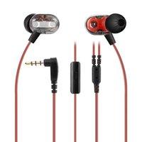 ingrosso unità mobile-Auricolari In-Ear originali KZ ZSE professionali Dual Dynamic Driver Unità Stereo HiFi Sound Cuffie con microfono per cellulare 3.5mm BA