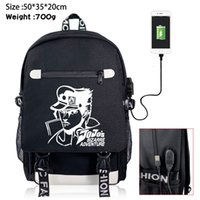 ingrosso gli zaini dei sacchetti di anime scuola-Bizzarre USB Charging Zaino di JoJo Jonathan Boys Girls School Bags Bookbag Laptop Spalle Borse da viaggio