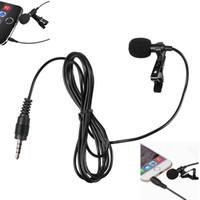 microfone condensador estéreo mini venda por atacado-100 Pcs Profissional Para IOS Telefone Móvel Android Mini Estéreo Portátil HiFi Qualidade de Som Microfone Condensador Clipe Lapela Mic