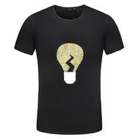 camisetas de iluminación al por mayor-100% algodón diseñador de lujo para hombre camisetas Hip Hop bombilla logotipo famoso diseño para hombre hombre camisetas camiseta de moda para hombre de manga corta camisetas