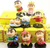 Wholesale china kid silicone doll for sale - Group buy 8pcs set Crayon Shinchan Toys Color Box Package PVC Silicone Display Doll Machine Lucky Egg Blind Box Gift Package For Promotion Kids Gift