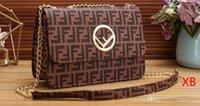 çanta tokaları toptan satış-2019 Marka Satchel Çanta Flap Omuz Çantaları Kadın F Manyetik Toka Crossbody Çanta FF Desen PU Deri Kayış Çanta