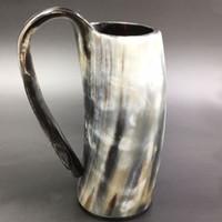 шоколадная кружка оптовых-Чашка для викингов Чашка для питья рога кружка Аутентичная средневековая вдохновленная кружка безопасно хранит горячие и холодные жидкости, кофе, чай, горячее шоколадное вино, пиво