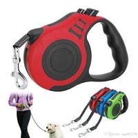 tasmayı uzatmak toptan satış-3 M / 5 M Geri Çekilebilir Köpek Tasma Otomatik Köpek Yavrusu Tasma Halat Pet Koşu Yürüyüş Küçük Orta Köpekler Pet Ürünleri Için Kurşun Uzatma