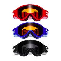 мужские лыжные очки оптовых-SUP Лыжные очки для зимних видов спорта Мужчины Женщины Лыжи Сноуборд Очки для снегоходов Маска Снег Зима Лыжи Лыжные очки Мотокросс