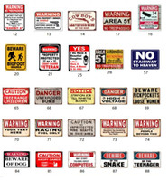 Danger Warning Metal Tin Signs No Stupid people Signage Home Decor Wall Art Painting Plaque Vintage Gas oil champion Decorative Metal art