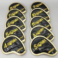 eisen limitierte auflage großhandel-Limited Edition Stickerei Honma Beres Golf Eisen Club Headcover Set Gold Gehobene Kristall PU Golf Head Cover für Eisen 4-11SA 10 STÜCKE 2 Farben