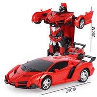 motor nitro para rc al por mayor-Rc Car eléctrica de deformación 2 en 1 vehículo de control remoto de conducción Coches deportivos Robots Modelos de control remoto de juguete de regalo Fighting GGA2937