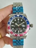 pulseiras de safira azuis venda por atacado-Pulseira Jubileu dos homens Relógios Mens Vermelho Azul Automático 2813 Homens Relógio 126710 Batman Gmt II Sapphire Perpetual Pepsi 126710BLRO relógios de Pulso