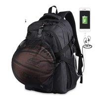 torba bölmeleri toptan satış-Kaliteli Spor Sırt Çantası Erkek Çantası Okul Seyahat Sırt Çantaları Basketbol Bölmesi Için Su Geçirmez Anti-hırsızlık Sırt Çantası Mochila B287