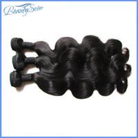 dhgate virgen brasileño al por mayor-DHgate Hair Products Extensiones de cabello virgen brasileño sin procesar Body Wave 9A Grade Mixed 3Bundles 300g lot Virgin Human Hair Weaves