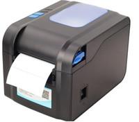 impressora de etiquetas venda por atacado-Impressora de código de barras XP-370B auto-adesiva etiqueta de código QR máquina térmica bilhete